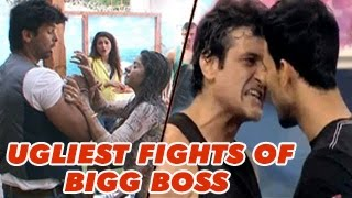 UGLIEST FIGHTS of Bigg Boss   MOST SHOCKING CONTROVERSIES