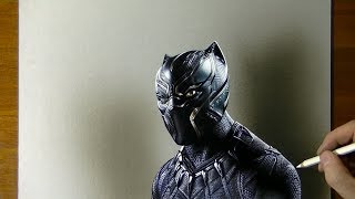 Black Panther Drawing from Marvel Movie