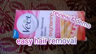 pain free hair removal by Veet and demo