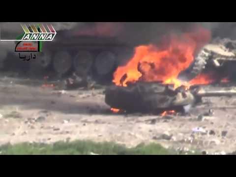 Попадание в танк Т 72 из РПГ 29 Вампир в Сирии (отрывок)