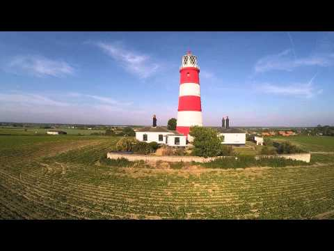 Happisburgh Lighthouse and Beach, View from a Phantom Quadcopter