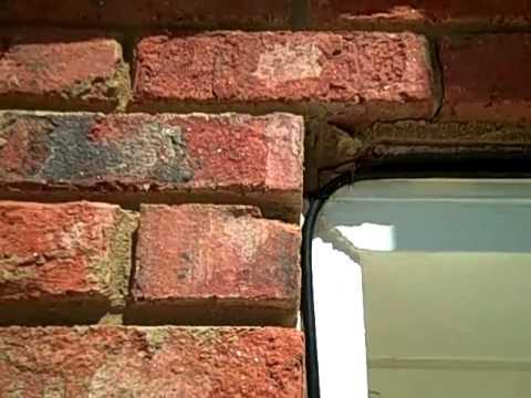 Lintel above garage door