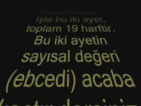 mehdi nin dogum tarihi (19 mucizesi ve mudessir suresi ile mehdi yasiyormu ?)