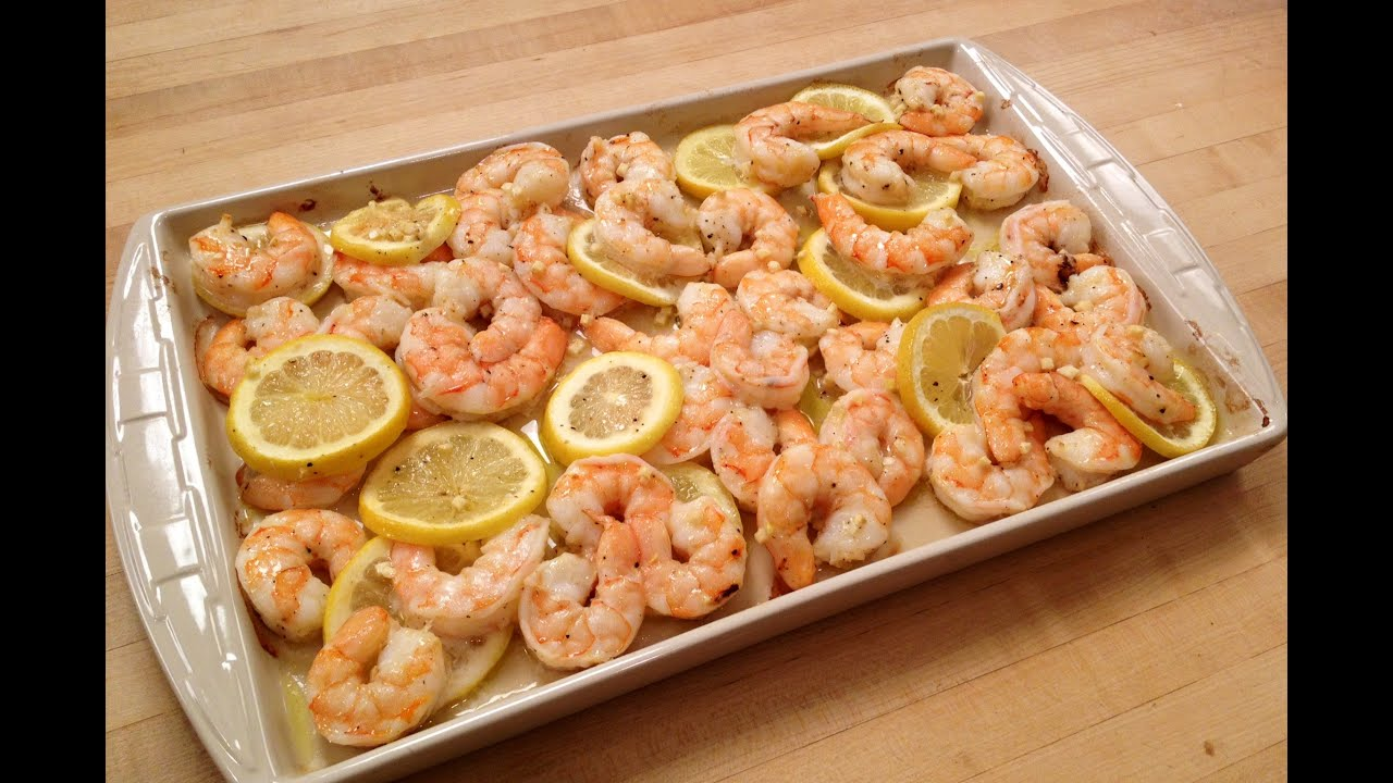 How to Make Roasted Shrimp with Lemon & Garlic - YouTube