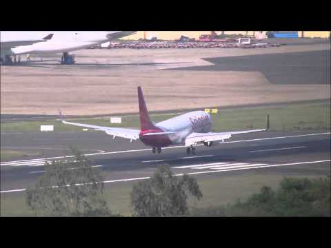 Spicejet Boeing 737 lands at Chennai Airport