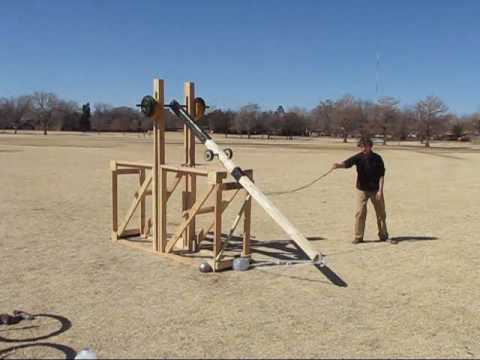Small Trebuchet Video
