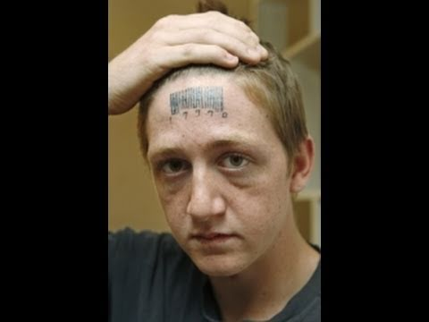 Monster Tattoo On Forehead