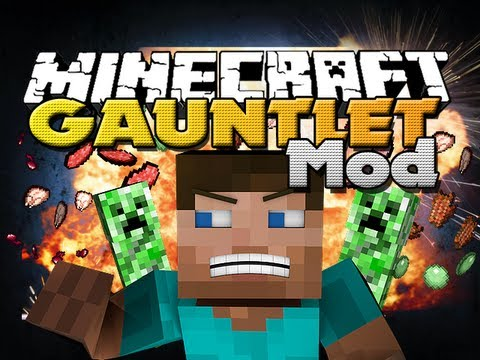 Minecraft Mods - Creeper Gauntlet Mod - NEW EXPLOSIVE ITEM!!