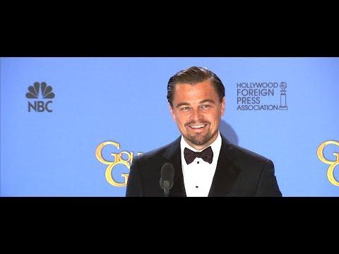 Leonardo DiCaprio Talks Wolf of Wall Street in the Golden Globes Press Room