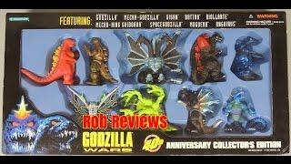 Trendmasters Godzilla Wars 40th Anniversary Collector's Edition Set  - Rob Reviews