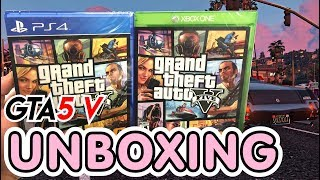 Grand Theft Auto V GTA 5 (PS4 / Xbox One) Unboxing !!