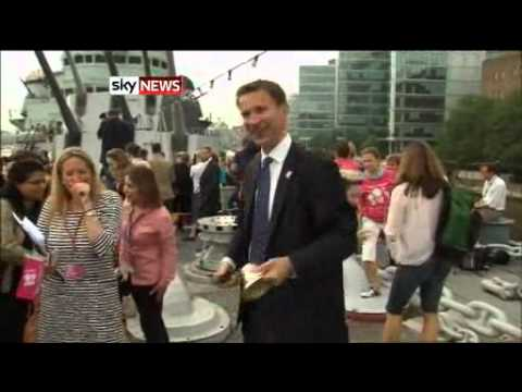 Jeremy Hunt's Olympic Bell Ringing Mishap