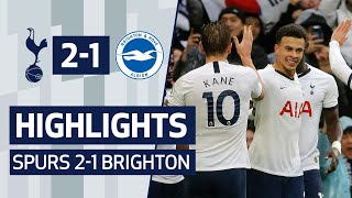 HIGHLIGHTS | SPURS 2-1 BRIGHTON | HARRY KANE & DELE ALLI SECURE COMEBACK WIN!