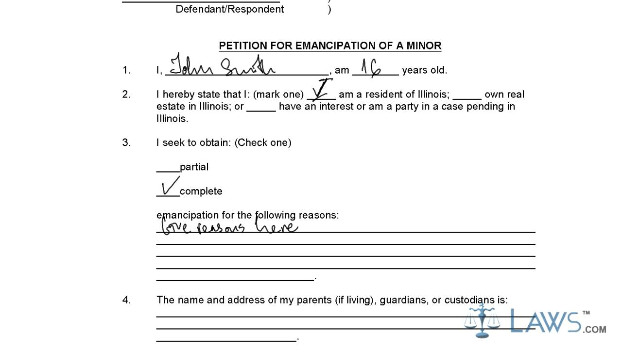 MC-300 Petition for Declaration of Emancipation of Minor, Order