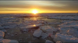 Incredible Winter Ice Flows Wellfleet Ma 4k With Dji Matrice 100