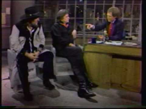 Johnny Cash & Waylon Jennings on David Letterman