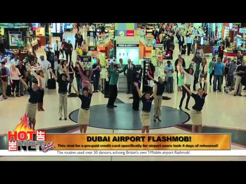 Dubai Airport flashmob And wrong way escalator walk racks up net hits!