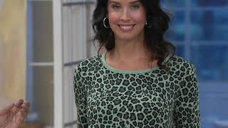 AnyBody Cozy Knit Leopard Top and Legging Set on QVC