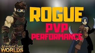 AQW - SUPER NICE PERFORMANCE BY ROGUE? TRYING THE POWER OF ROGUE IN PVP (2020)