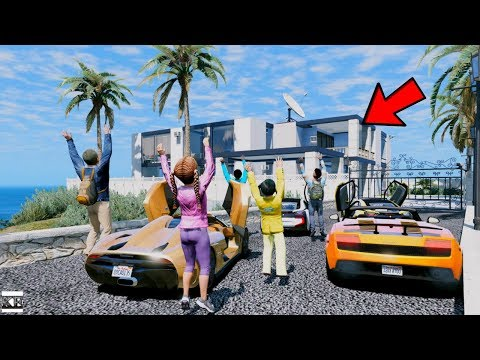 GTA 5 CLINTON KIDS REAL LIFE MOD #4 DRIVING TO OUR SCHOOLMATE'S NEW MANSION