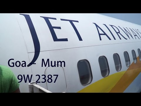 Jet Airways Business 737-800, Goa-Mumbai May 2015