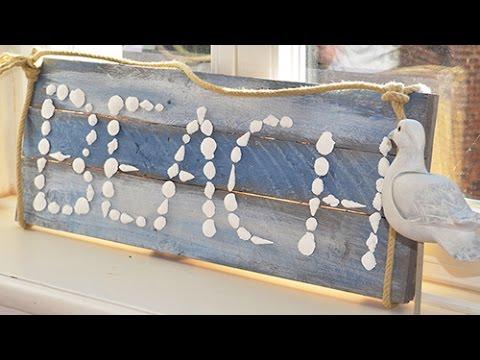 Maritimreihe 03: Schrift aus selbstgemachten Muscheln aus Pardo von Viva Decor