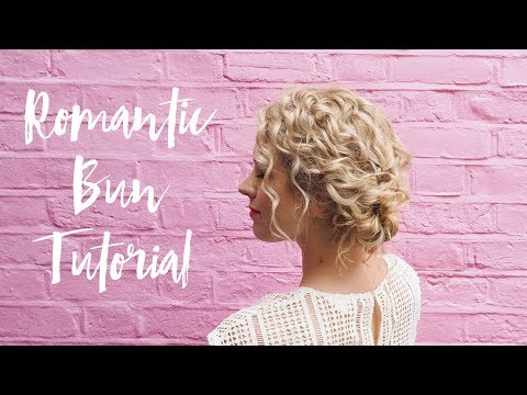 Quick romantic hairstyle tutorial for curly hair - YouTube