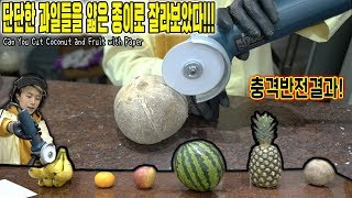 Can You Cut Coconut and Fruit with Paper Glainder !