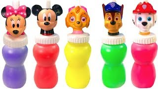 Learn Colors with Paw Patrol Mickey Mouse Slime Surprise Colours   Fizzy Fun Toys
