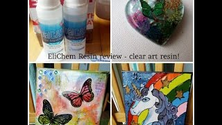 EliChem review on their new art resin and how to make faux stained glass art