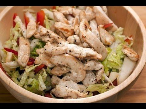 Салат из куриной грудки с овощами. Салаты на каждый день.