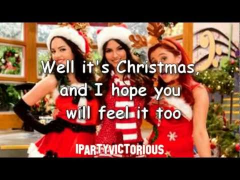 Victorious - It's Not Christmas Without You + Lyrics video