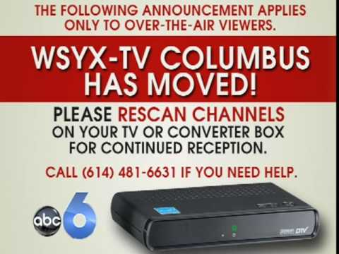 WSYX Moves to UHF Channel 48
