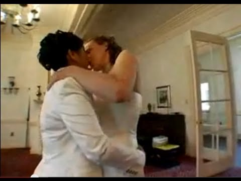 Gay Wedding - Two Lesbians In Love Tie The Knot - Lesbian Wedding video