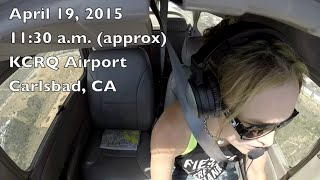 Student Solo Flight  N9897F - Cessna 172 Landing at KCRQ Pinnacle Aviation Academy Carlsbad, CA