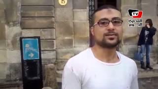 عامل نقاشة مصري بفرنسا: ربنا حقق أمنيتي برؤية السيسي