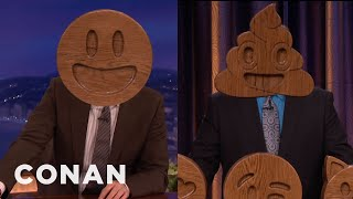 Get Nick Offerman's Solid Wood Emojis For Charity  - CONAN on TBS