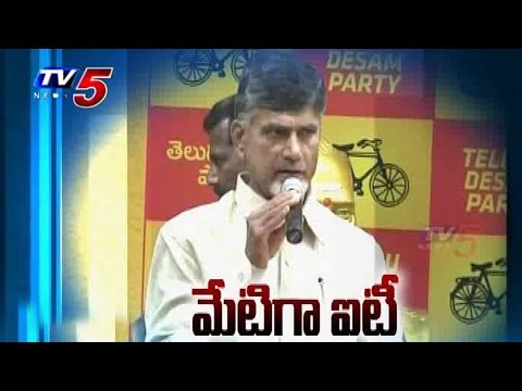 CM Naidu's Hi tech 'Blueprint' | IT Sector in AP : TV5 News