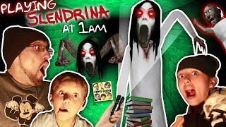 SLENDRINA @ 1am! GURKEY! Granny's Grandaughter in the Cellar Basement! (FGTEEV @ Night)