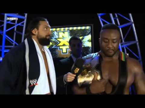 Big E Langston and Damien Sandow Backstage