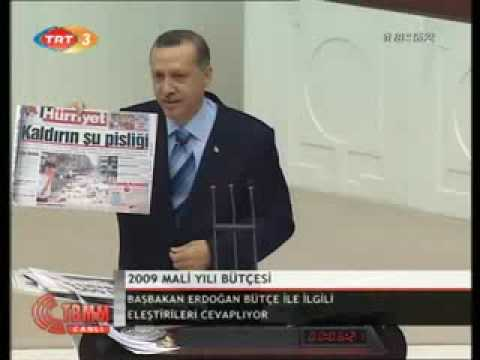 2009 bütce Recep Tayyip Erdoğan meclis şov Baykal ağır bombardımanda..
