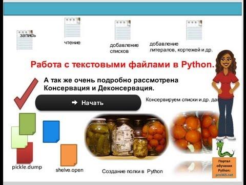 Обучение Python. Файлы в Питон.