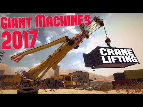 Giant Machines 2017 - Tornado Warning! - Crane Lifting & Wood Cutting - Giant Machines 2017 Gameplay