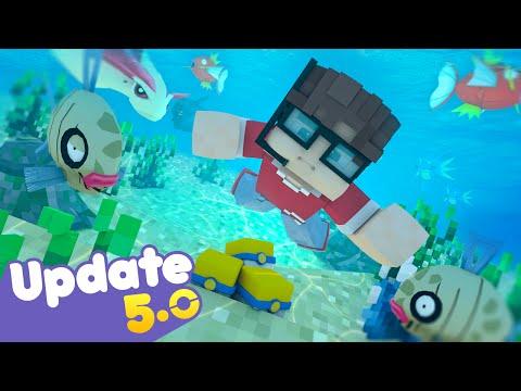 Pixelmon atualização 5.0 - Ginasios. Milotic e novos pokémons! para Minecraft 1.10 e 1.8.9