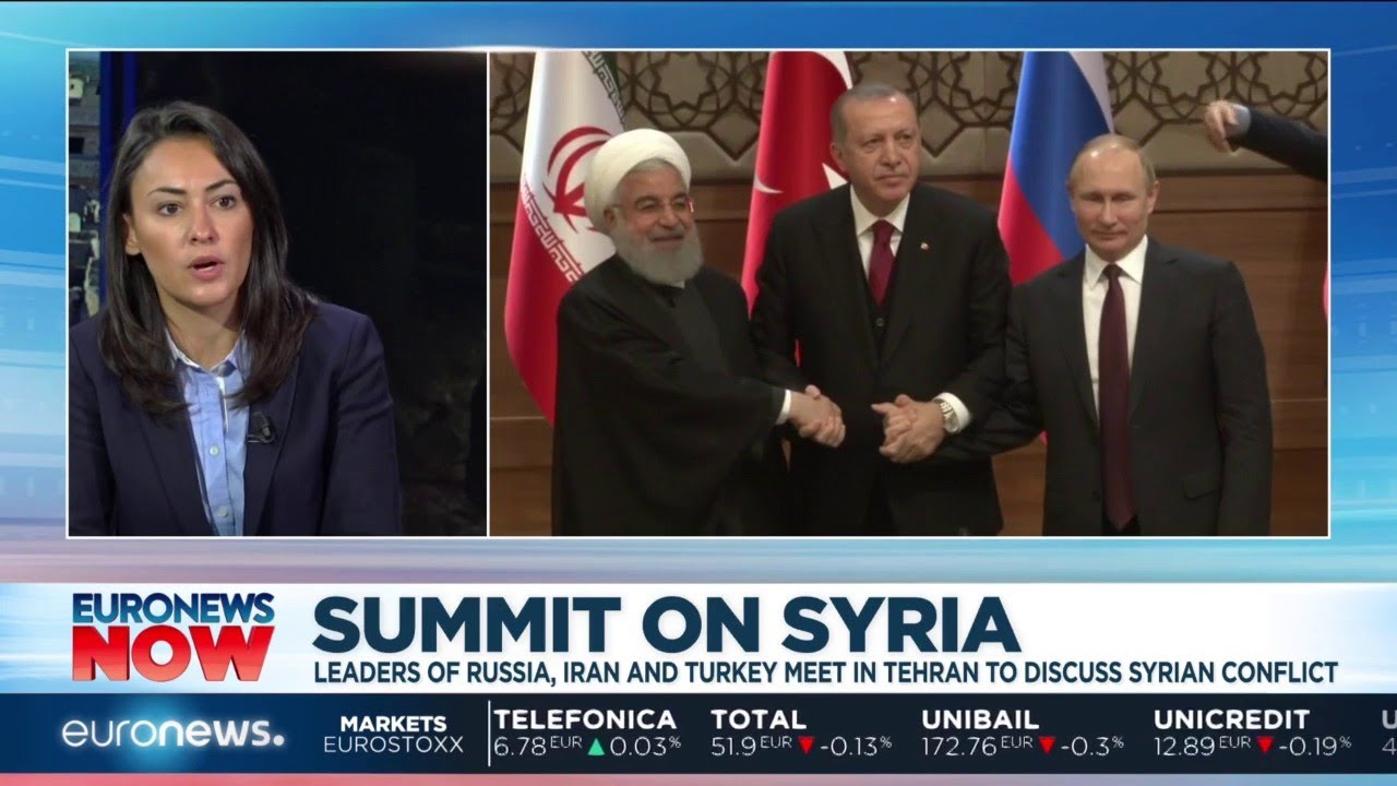Summit on Syria: Leaders of Russia, Iran and Turkey meet in Tehran to discuss Syrian civil war