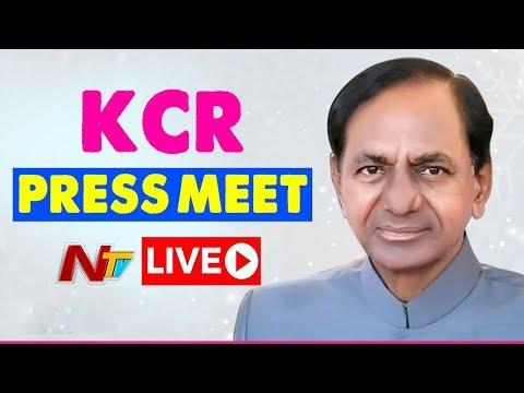 CM KCR Press Meet Live || slams Chandrababu Naidu : AP Special Status : Federal Front : NTV