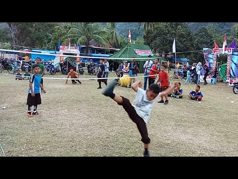 Detik - Detik Menegangkan Final Sepak Takrow Cilik Seruh Banget