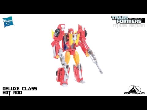Transformers Titans Return Deluxe Class HOT ROD Video Review