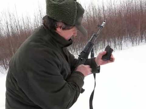 Стрельба через кусты из Сайги 7,62-39