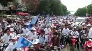 50000 youth join campaign for CNRP at Phnom Penh